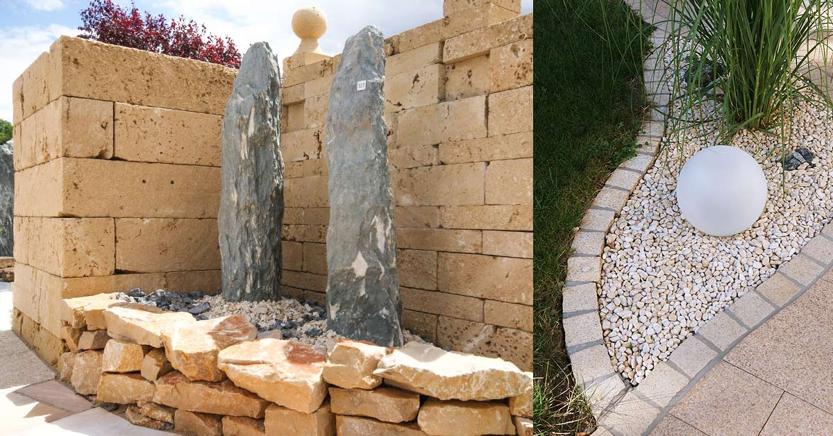 Machen Sie Ihren <b>Außenbereich</b> mit unseren Steinen zu Ihrem zweiten Wohnzimmer